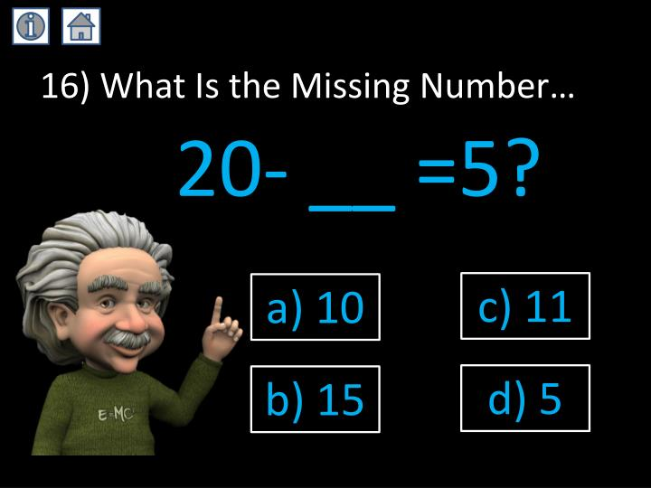 16) What Is the Missing Number…