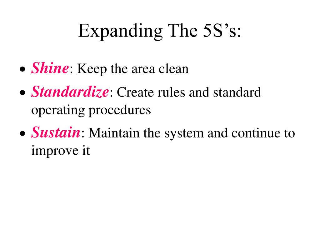 Expanding The 5S's:
