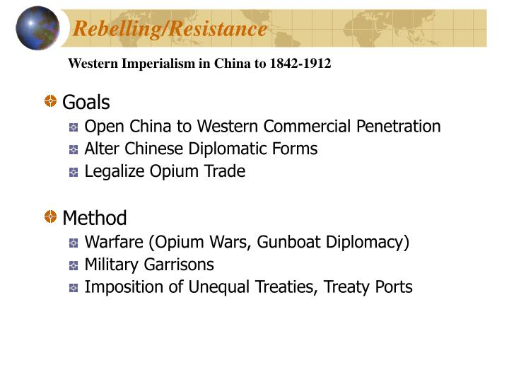 Western Imperialism in China to 1842-1912