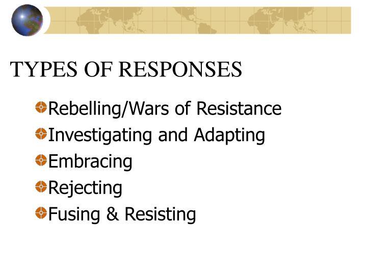 TYPES OF RESPONSES