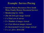 example service pricing