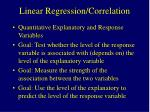 linear regression correlation