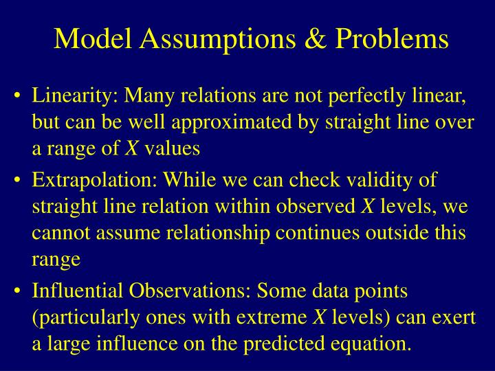 Model Assumptions & Problems