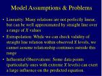 model assumptions problems