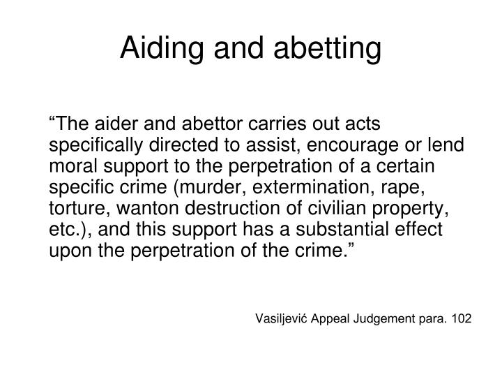 Aiding and abetting