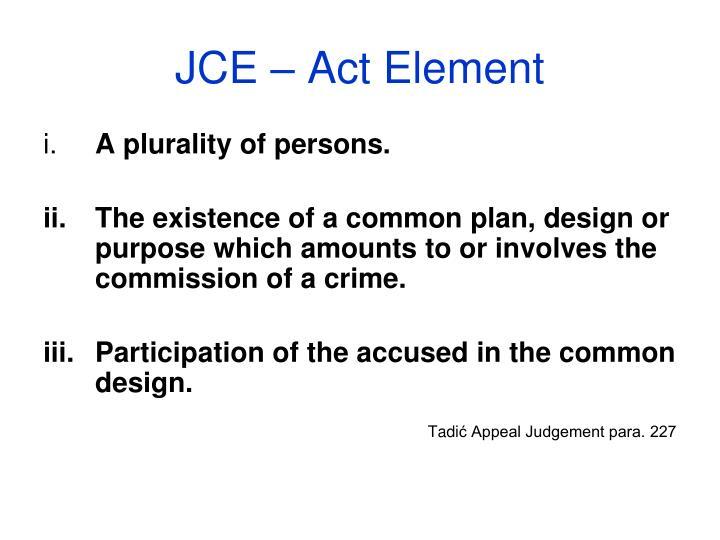 JCE – Act Element