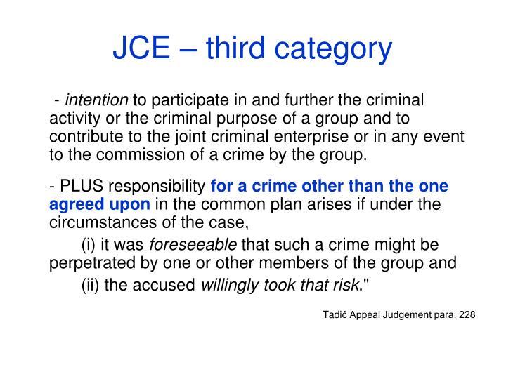 JCE – third category