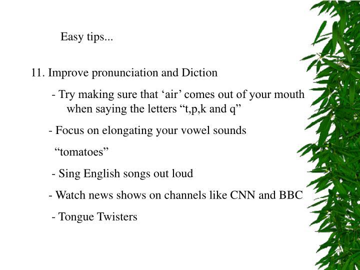 Easy tips...