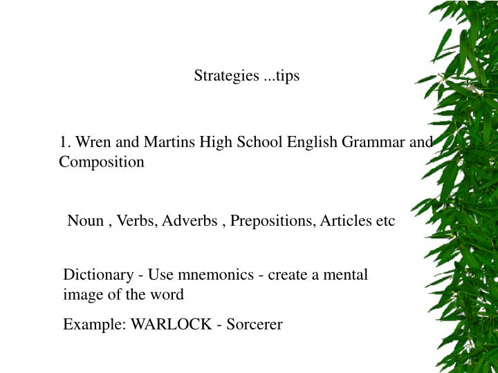 Strategies ...tips