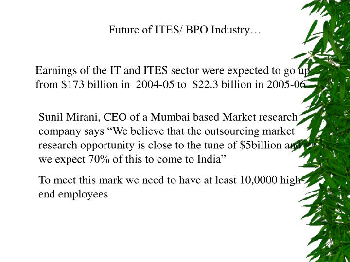 Future of ITES/ BPO Industry…