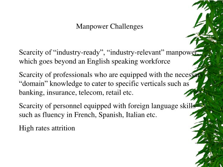 Manpower Challenges
