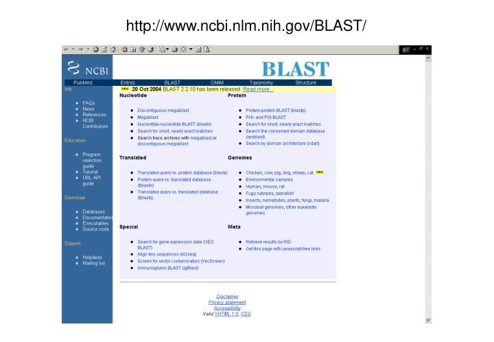 http://www.ncbi.nlm.nih.gov/BLAST/