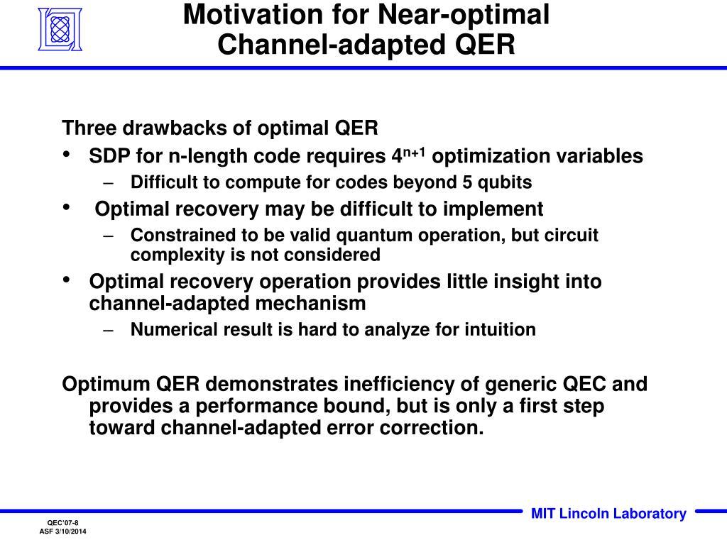 Motivation for Near-optimal