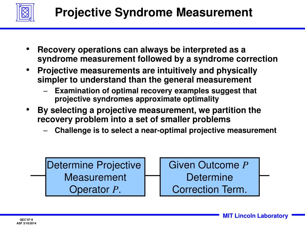 Projective Syndrome Measurement