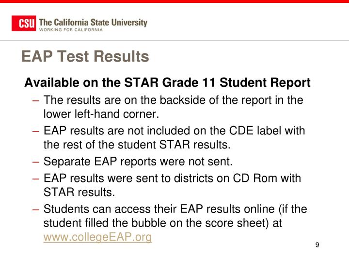 EAP Test Results