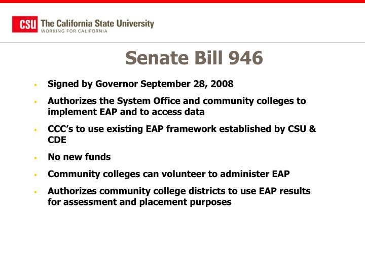 Senate Bill 946
