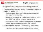 supplemental high school preparation