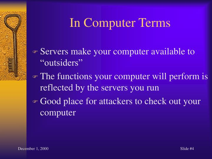 In Computer Terms