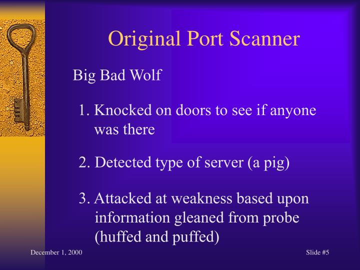 Original Port Scanner