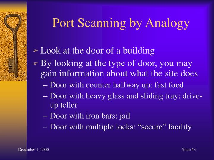 Port scanning by analogy