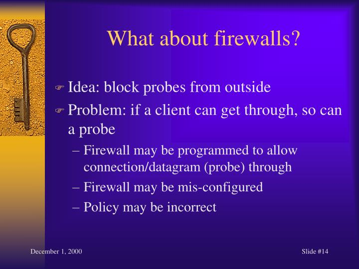 What about firewalls?