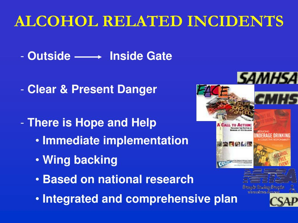 ALCOHOL RELATED INCIDENTS