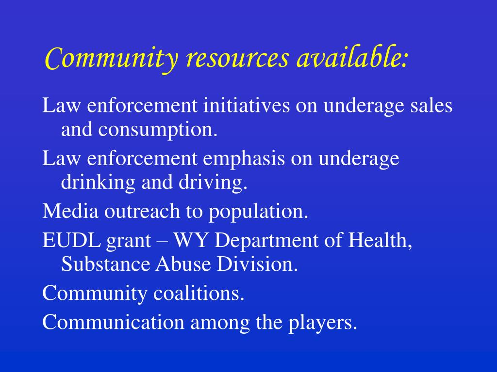Community resources available: