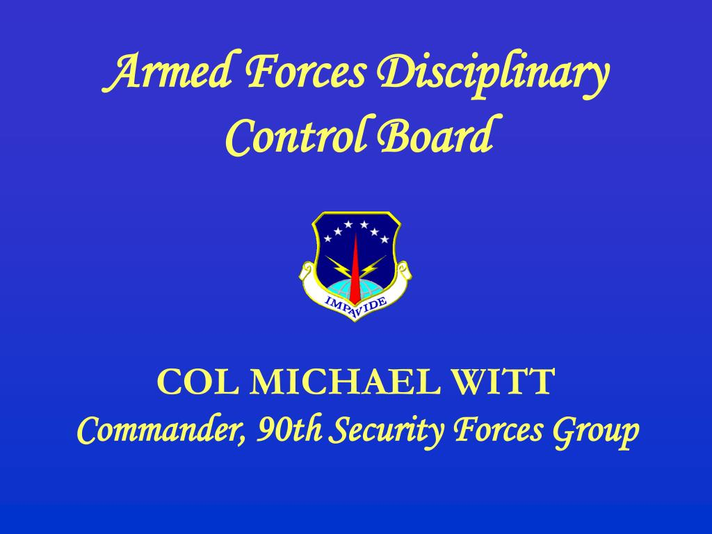 Armed Forces Disciplinary Control Board