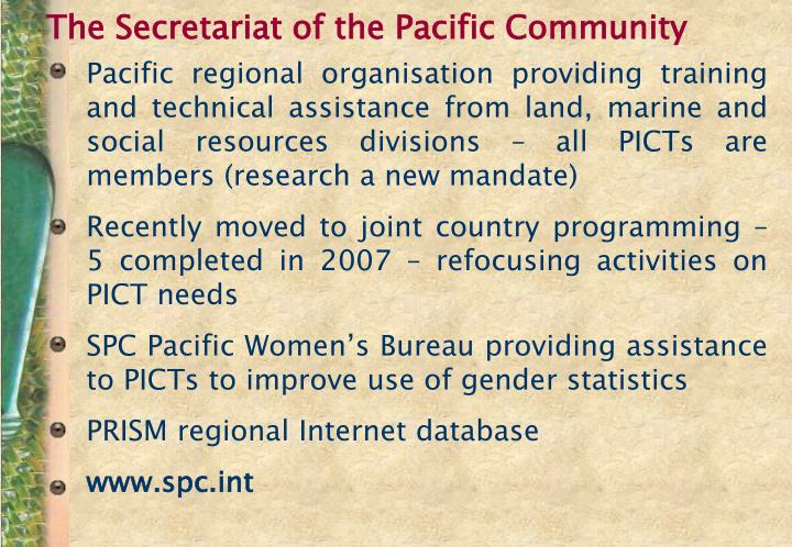 The Secretariat of the Pacific Community