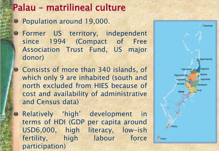 Palau – matrilineal culture
