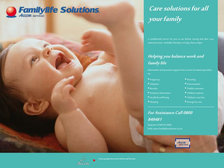 Care solutions for all your family