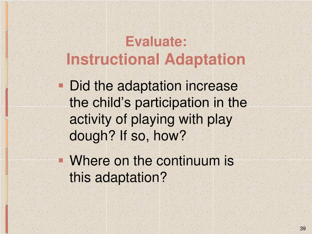 Did the adaptation increase the child's participation in the activity of playing with play dough? If so, how?