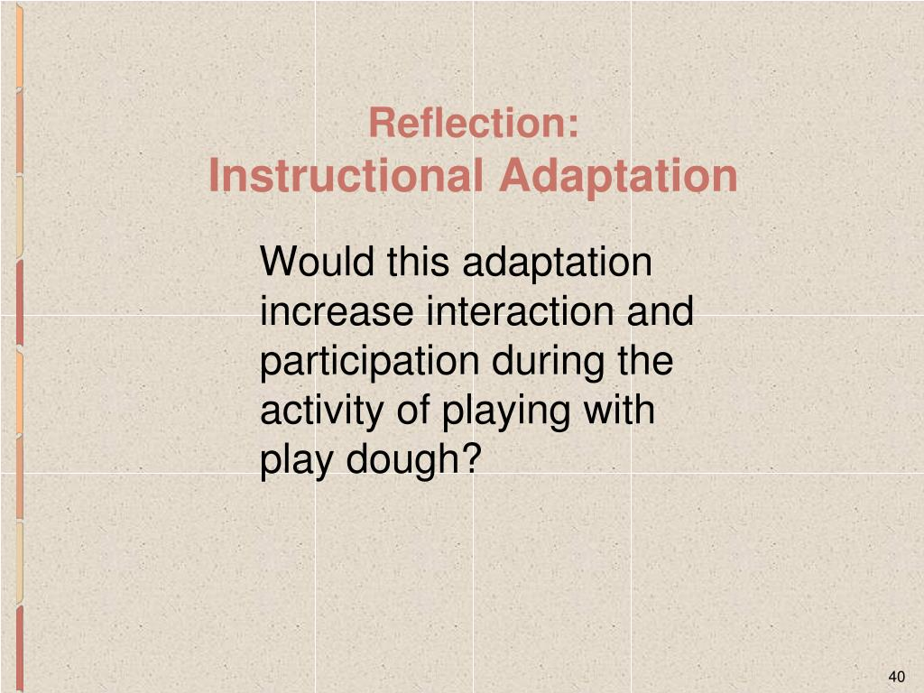 Would this adaptation increase interaction and participation during the activity of playing with play dough?