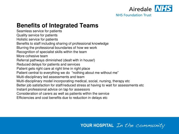 Benefits of Integrated Teams