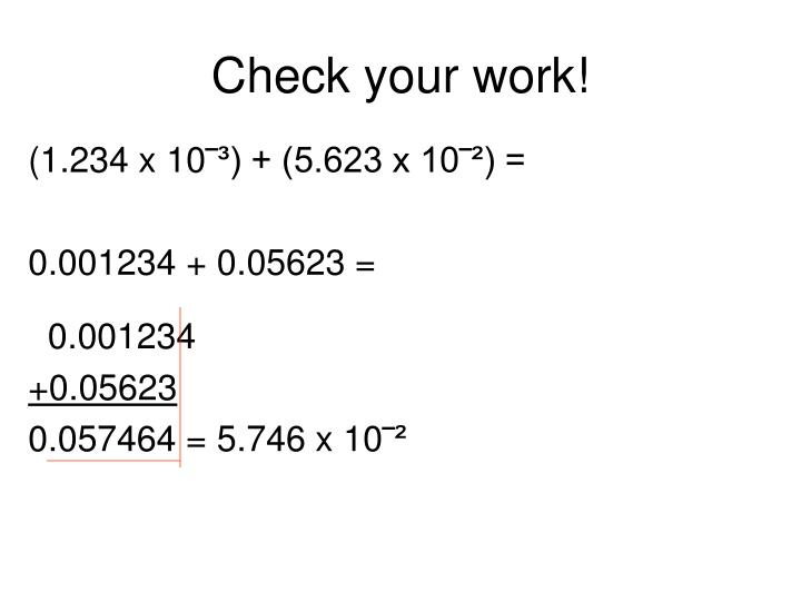 Check your work!