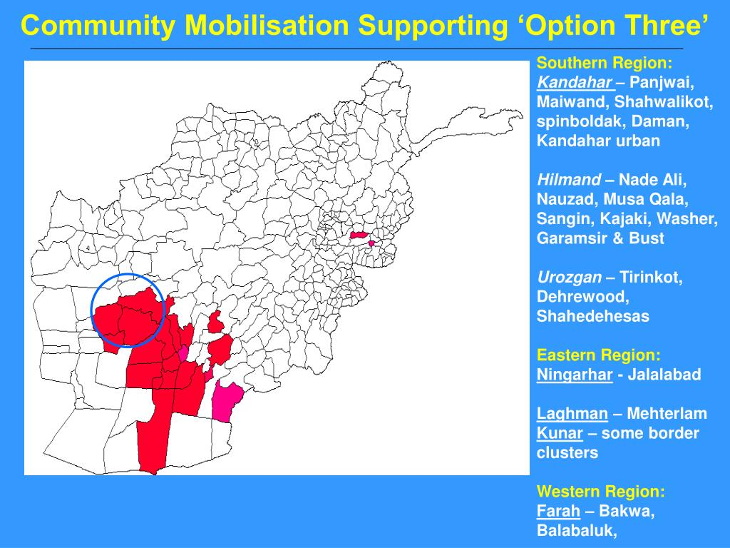 Community Mobilisation Supporting 'Option Three'
