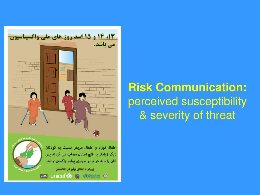 Risk Communication: