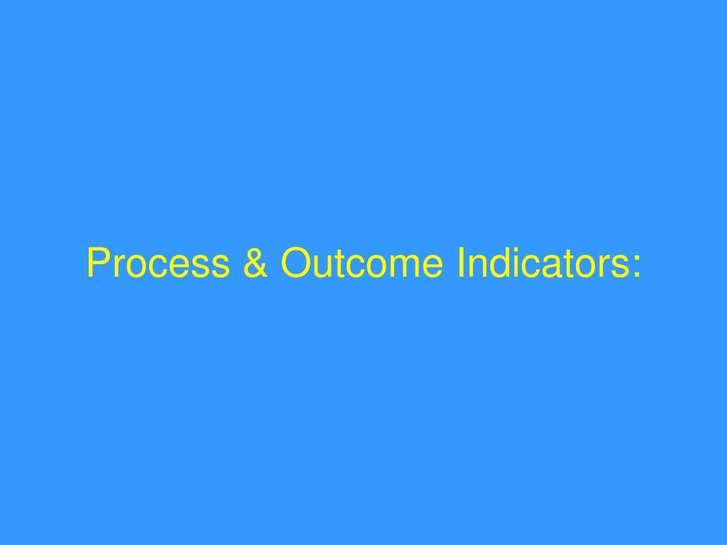 Process & Outcome Indicators: