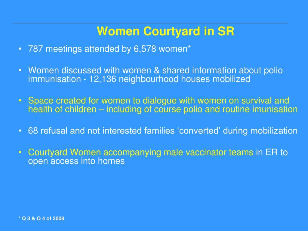 Women Courtyard in SR