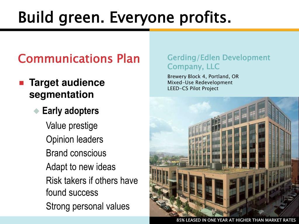 Build green. Everyone profits.