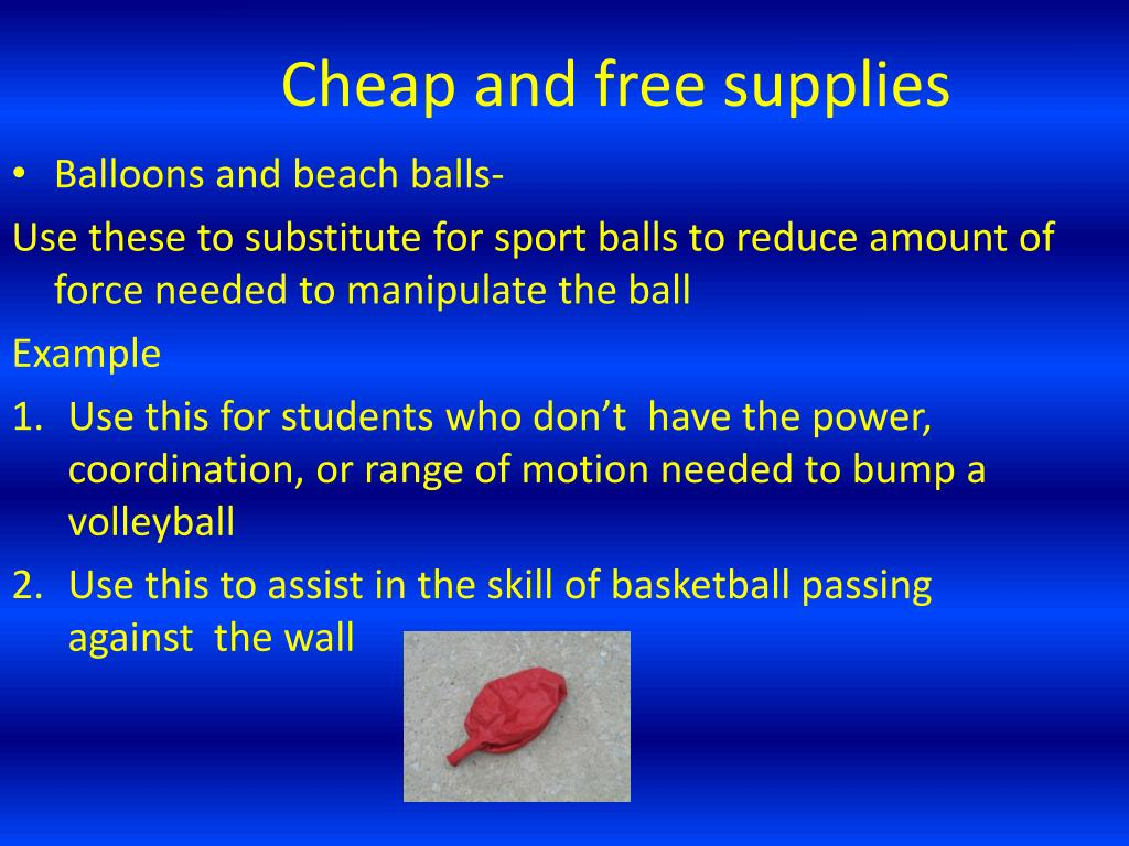Cheap and free supplies