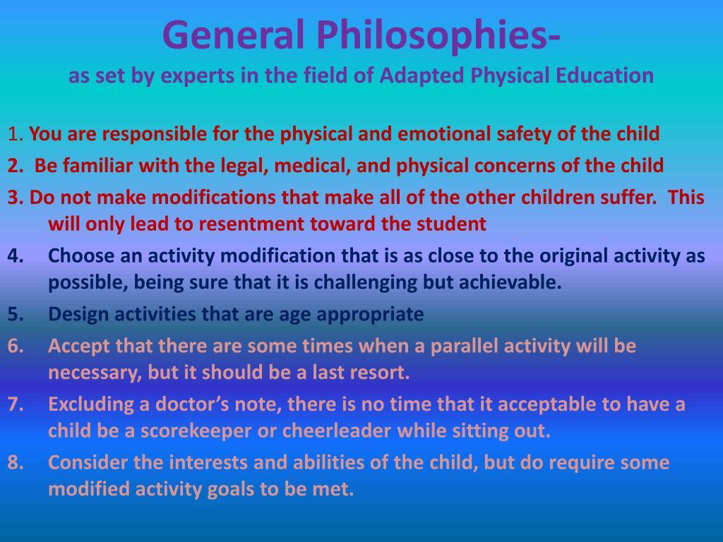 General Philosophies-