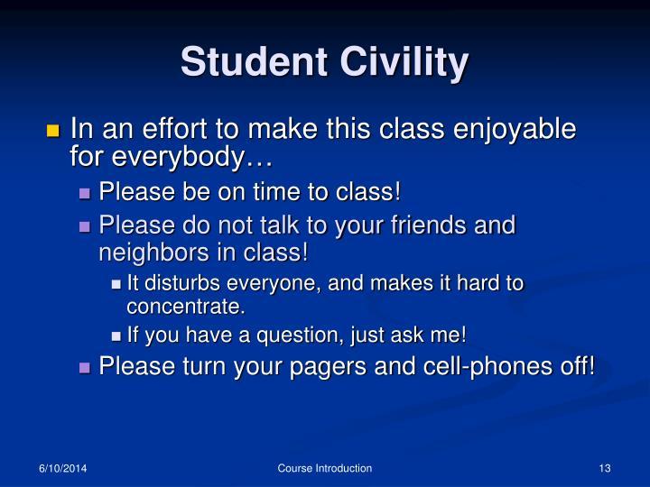 Student Civility