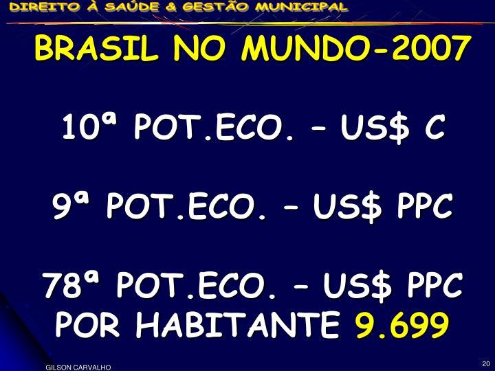 BRASIL NO MUNDO-2007