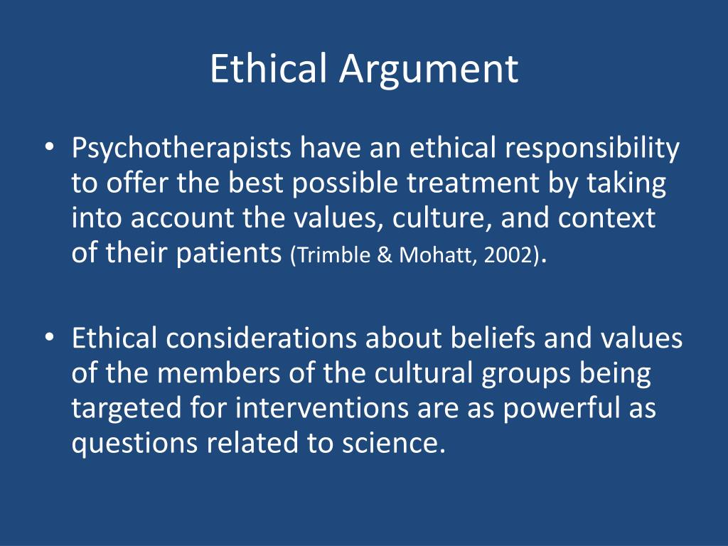 Ethical Argument