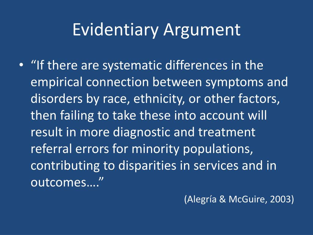 Evidentiary Argument