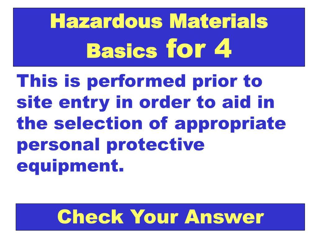 Hazardous Materials Basics