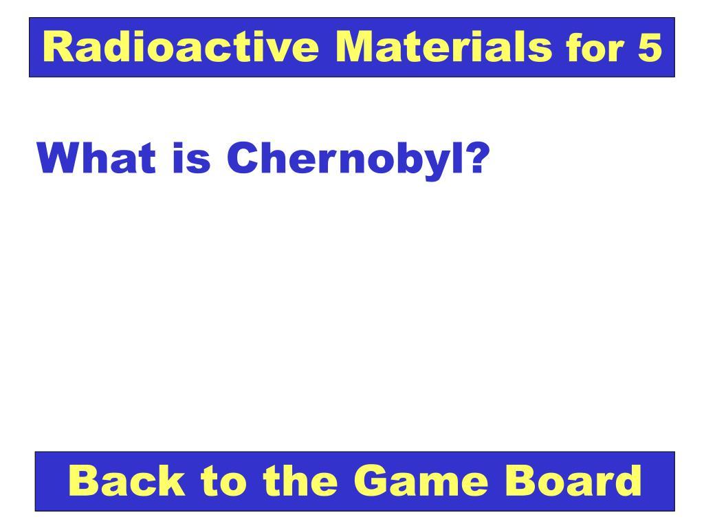 Radioactive Materials