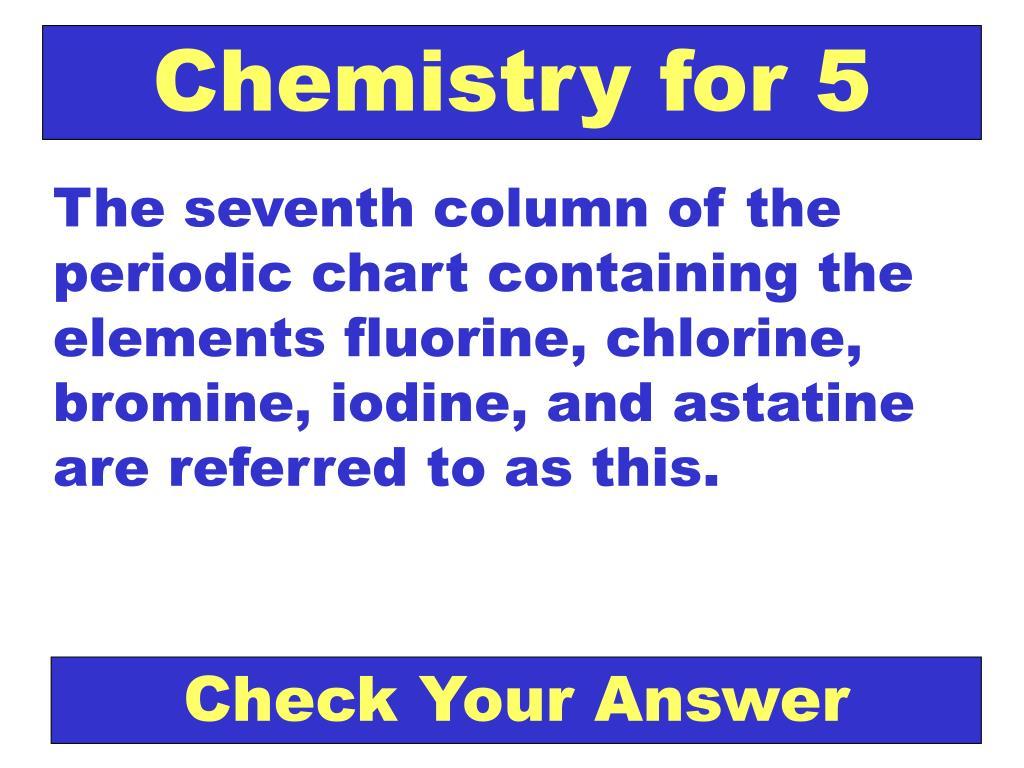 Chemistry for 5