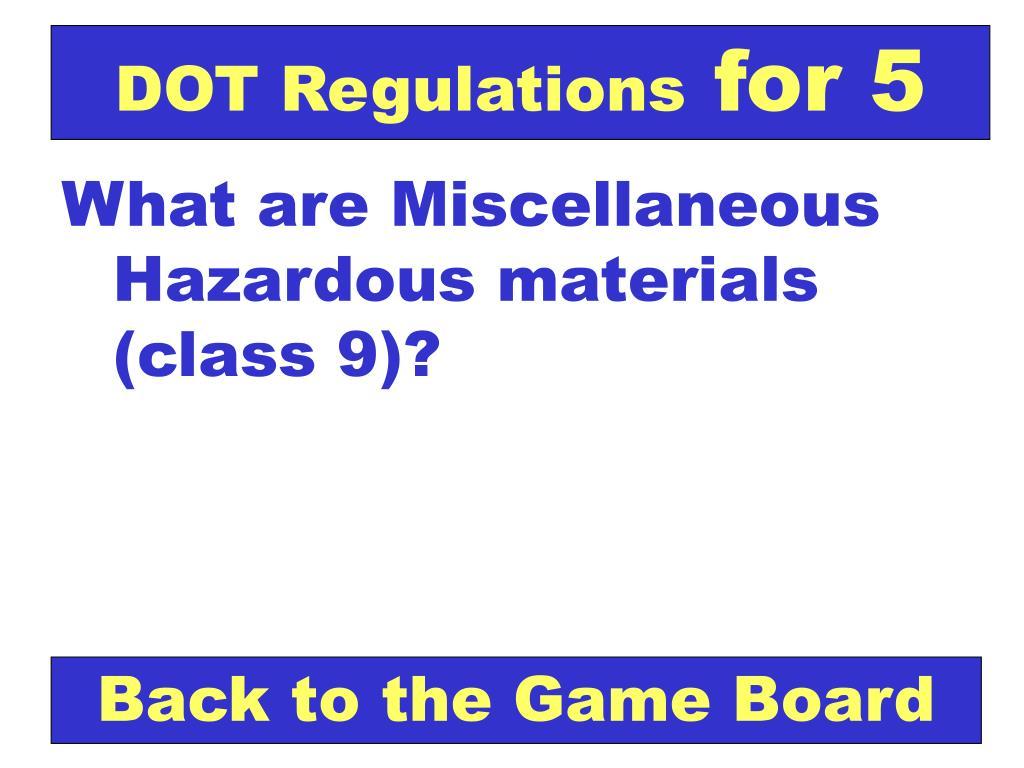 DOT Regulations